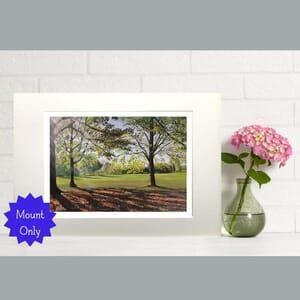 Rural Landscape In Park Under Trees- Art Print in Mount -
