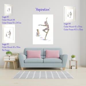 Ballerina - Art Print in Frame -