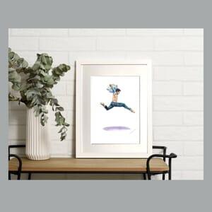 Male Dancer - Art Print in Frame -