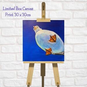 Seagull Art Square Canvas Print  - Coastal Art