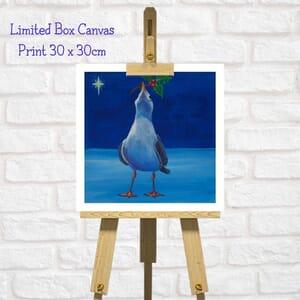Seagull Art Square Canvas Print  - Festive art