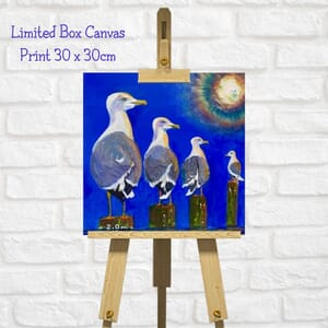 Seagull Art Square Canvas Print