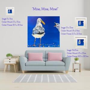 Seagull Art Print in Square Frame