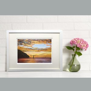Sunset at sea - Art Print in Frame -