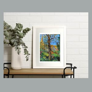 Church view - Art Print in Frame -