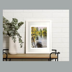 Reflections on lake - Art Print in Frame -