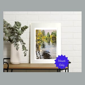Reflections on lake - Art Print in Mount -