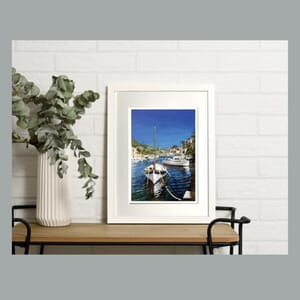 Boats in harbour- Art Print in Frame -