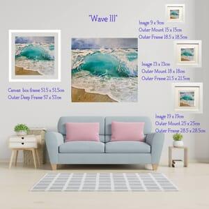 Beach Wave - Art Print in Frame -