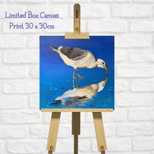 Seagull Art Square Canvas Print  - Valentines Gift