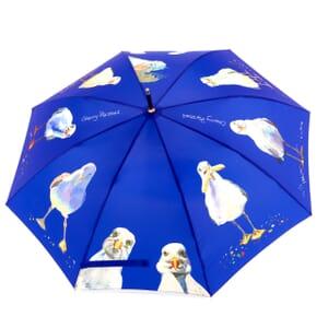 Blue Seagull Cane Umbrella - 8 panels