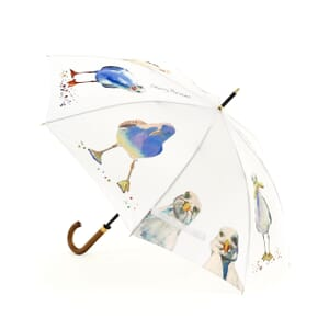 White Seagull Cane Umbrella - 8 panels