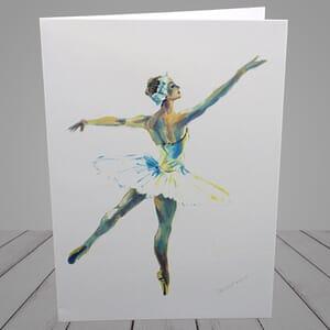 Ballet Greeting Card - prima ballerina