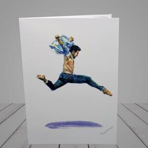 Ballet Greeting Card - male ballet dancer-