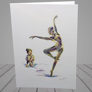 Ballet Greeting Card - ballet teacher and student -