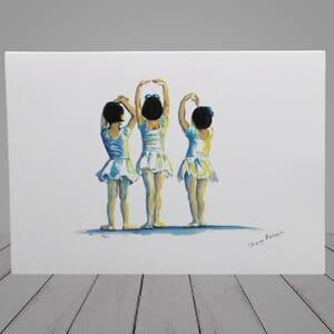 Ballet Greeting Card - little ballerinas -