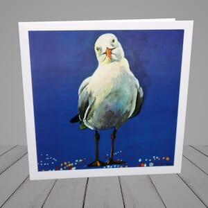 Greeting Card - Seagull - coastal art-