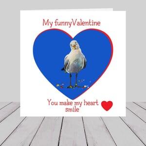 Valentine's Day Card -  Seagulls in love -