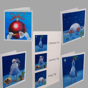 Seagull Christmas Card Collection of 5 Cards