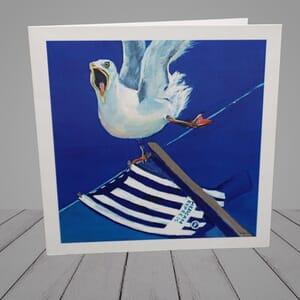 Greeting Card -   Seagulls football win -