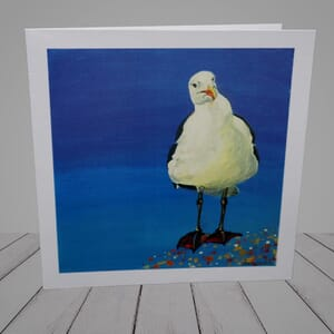 Greeting Card -  Funny Seagull coastal greeting card -