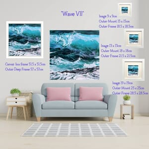 Wave Vii on wall