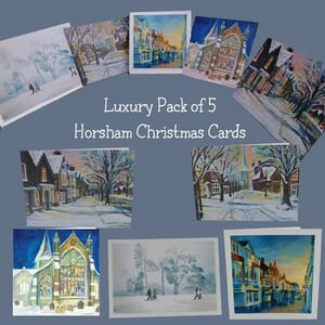 Horsham Christmas Card Collection of 5 Cards