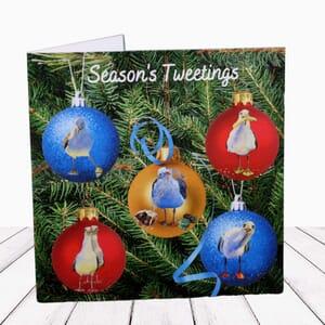 Festive Greeting Card Seagull Christmas Card